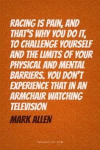 triathlon racing quote