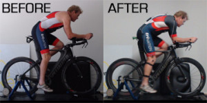 Bike fit before and after